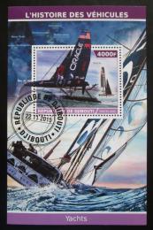 Poštovní známka Džibutsko 2015 Moderní plachetnice Mi# N/N