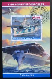 Poštovní známka Džibutsko 2015 Váleèné lodì Mi# N/N