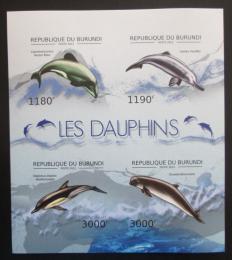 Poštovní známky Burundi 2012 Delfíni neperf. Mi# 2843-46 B
