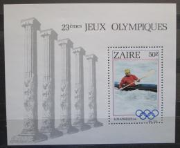 Poštovní známka Kongo Dem., Zair 1984 LOH Los Angeles Mi# Block 49