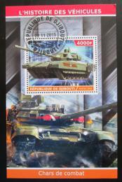 Poštovní známka Džibutsko 2015 Tanky Mi# N/N