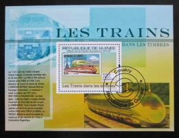 Poštovní známka Guinea 2009 Moderní lokomotivy Mi# Block 1763 Kat 10€