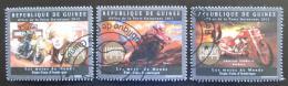 Poštovní známky Guinea 2012 Motocykly Mi# 9539-41 Kat 18€