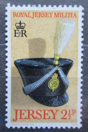 Poštovní známka Jersey, Velká Británie 1972 Vojenská èepice Mi # 69