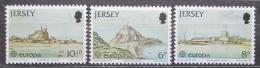 Poštovní známky Jersey, Velká Británie 1978 Evropa CEPT, stavby Mi # 177-79