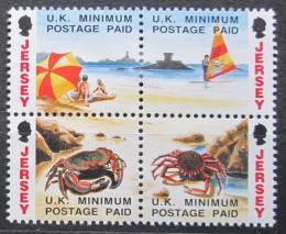 Poštovní známky Jersey, Velká Británie 1993 Život na pláži Mi # 599-602 Kat 7.20€