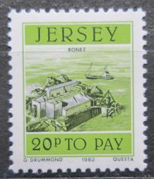 Poštovní známka Jersey, Velká Británie 1982 Pøístav Ronez, doplatní Mi # 43