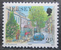 Poštovní známka Jersey, Velká Británie 1989 Hlavní ulice v St. Aubin Mi # 464