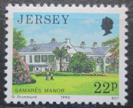 Poštovní známka Jersey, Velká Británie 1990 Architektura Samares Mi # 502
