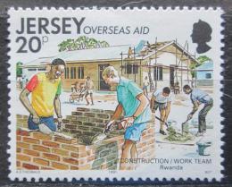 Poštovní známka Jersey, Velká Británie 1991 Výstavba ve Rwandì Mi # 554