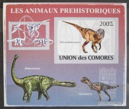 Poštovní známka Komory 2009 Dinosauøi DELUXE neperf. Mi # 2170 B Block