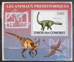 Poštovní známka Komory 2009 Dinosauøi DELUXE neperf. Mi # 2171 B Block