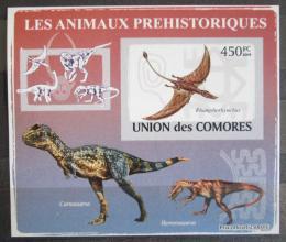 Poštovní známka Komory 2009 Dinosauøi DELUXE neperf. Mi # 2173 B Block