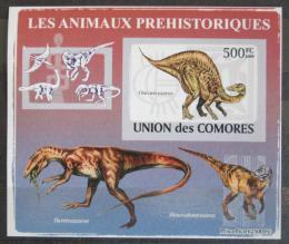 Poštovní známka Komory 2009 Dinosauøi DELUXE neperf. Mi # 2174 B Block