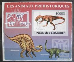 Poštovní známka Komory 2009 Dinosauøi DELUXE neperf. Mi # 2175 B Block