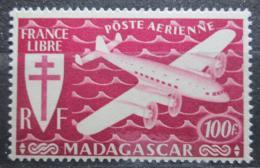 Poštovní známka Madagaskar 1943 Letadlo Mi# 370