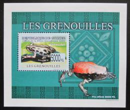 Poštovní známka Guinea 2009 Žáby DELUXE neperf. Mi# 6384 B Block