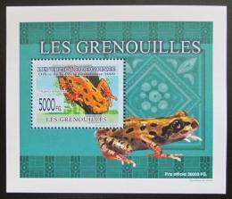Poštovní známka Guinea 2009 Žáby DELUXE neperf. Mi# 6385 B Block