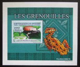 Poštovní známka Guinea 2009 Žáby DELUXE neperf. Mi# 6387 B Block
