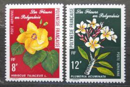 Poštovní známky Francouzská Polynésie 1977 Kvìtiny Mi# 240-41