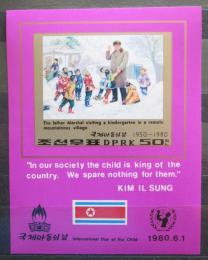 Poštovní známka KLDR 1980 Kim Il Sung neperf. Mi# Block 69 B