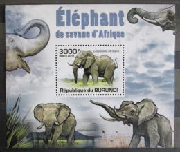 Poštovní známka Burundi 2011 Sloni DELUXE Mi# 2032 Block