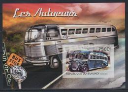 Poštovní známka Burundi 2012 Historické autobusy neperf. Mi# Block 305 B