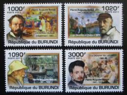 Poštovní známky Burundi 2011 Umìní, Renoir Mi# 2130-33 Kat 9.50€