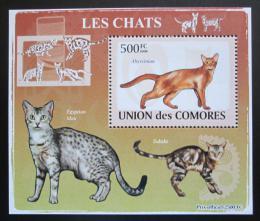 Poštovní známka Komory 2009 Koèky DELUXE Mi# 2209 Block