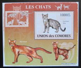 Poštovní známka Komory 2009 Koèky DELUXE Mi# 2210 Block