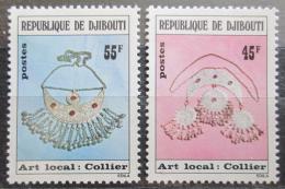 Poštovní známky Džibutsko 1978 Støíbrné šperky Mi# 218-19