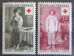 Poštovní známky Francie 1956 Èervený køíž, umìní Mi# 1117-18 Kat 6€