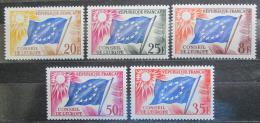 Poštovní známky Francie 1958-59 Vydání pro Radu Evropy Mi# 2-6