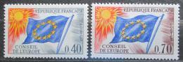 Poštovní známky Francie 1969 Vydání pro Radu Evropy Mi# 13-14