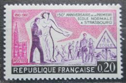 Poštovní známka Francie 1960 Ecole Normale, 150. výroèí Mi# 1307