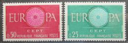 Poštovní známky Francie 1960 Evropa CEPT Mi# 1318-19