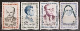 Poštovní známky Francie 1961 Bojovníci za svobodu Mi# 1342-45 Kat 5€