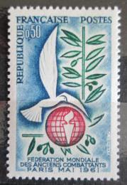 Poštovní známka Francie 1961 Boj za mír Mi# 1346
