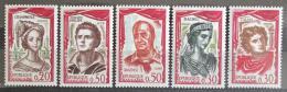 Poštovní známky Francie 1961 Herci Mi# 1355-59 Kat 5.50€