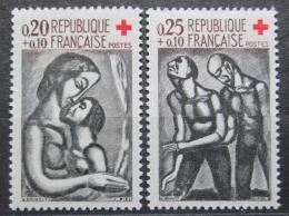 Poštovní známky Francie 1961 Èervený køíž, grafika Mi# 1376-77 Kat 5€