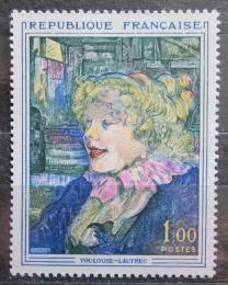 Poštovní známka Francie 1965 Umìní, Henri de Toulouse-Lautrec Mi# 1504