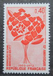 Poštovní známka Francie 1972 Dárcovství krve Mi# 1791