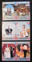 Poštovní známky Cookovy ostrovy 1977 Vláda Alžbìty II. Mi# 518-23 Kat 18€