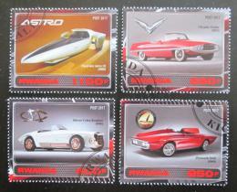 Poštovní známky Rwanda 2017 Staré návrhy automobilù Mi# N/N