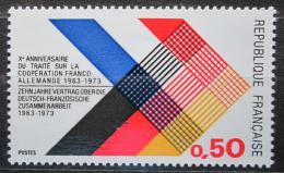 Poštovní známky Francie 1973 Spolupráce s Nìmeckem, 10. výroèí Mi# 1819