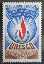 Poštovní známka Francie 1971 Vydání pro UNESCO Mi# 12