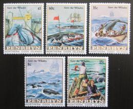 Poštovní známky Penrhyn 1983 Ochrana velryb Mi# 310-14 Kat 18€