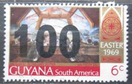 Poštovní známka Guyana 1981 Velikonoce, umìní, Salvador Dali pøetisk Mi# 659