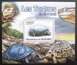 Poštovní známka Burundi 2011 Želvy DELUXE Mi# 2091 Block