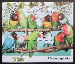 Poštovní známka Laos 1997 Papoušci Mi# Block 160 Kat 6€